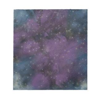 Purple Galaxy Nebula Notepad