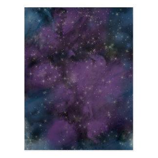 Purple Galaxy Nebula Postcard