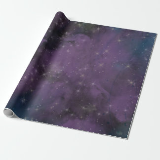 Purple Galaxy Nebula Wrapping Paper