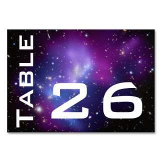 Purple Galaxy Numbered Card