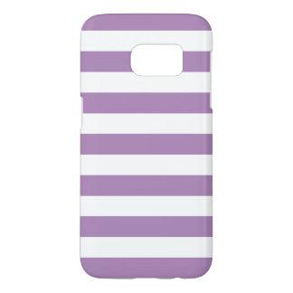 Purple Galaxy S7 Cases - Nautical Stripe