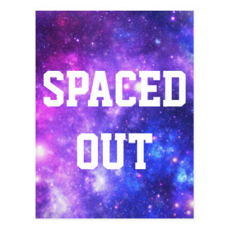 Purple Galaxy Spaced Out Postcard