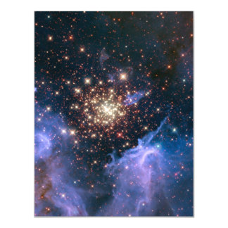 "Purple Galaxy Starry Sky Supernova Astronomy Space 4.25"" X 5.5"" Invitation Card"
