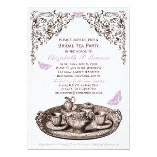 Purple Garden Bridal Tea Party Invitations