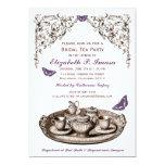 """Purple Garden Bridal Tea Party Invitations 5"""" X 7"""" Invitation Card"""