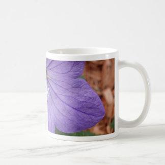 Purple garden flower coffee mugs