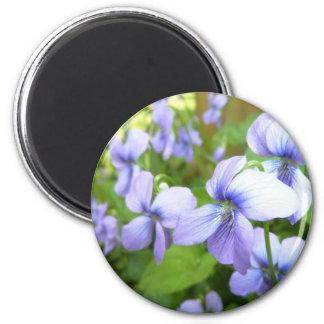 Purple Garden Flowers Magnet