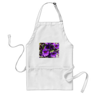Purple Garden Flowers Standard Apron