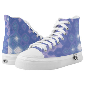 Purple Garden Party Hi Top Printed Shoes