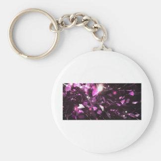 Purple Gem Design Keychain