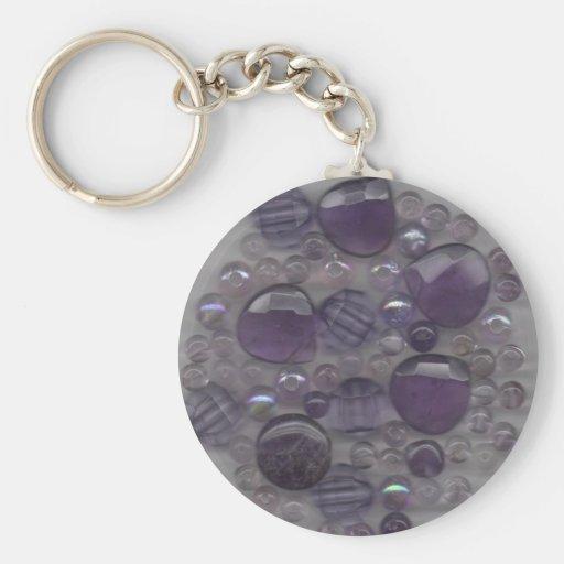 Purple Gems Keychain