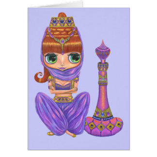Purple Genie Doll Card