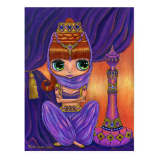 Purple Genie Postcard