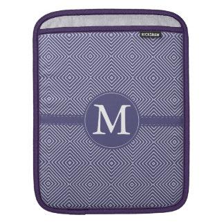 Purple Geometric Abstract Monogram Sleeves For iPads