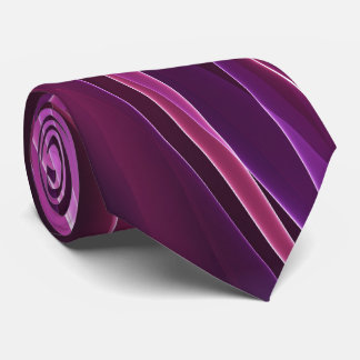Purple Geometric Abstract Tie