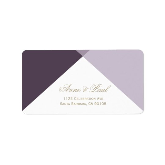 Purple geometric Address Labels