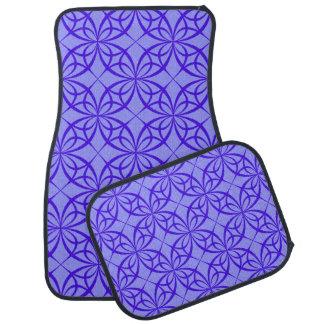 Purple geometric circles car mat set