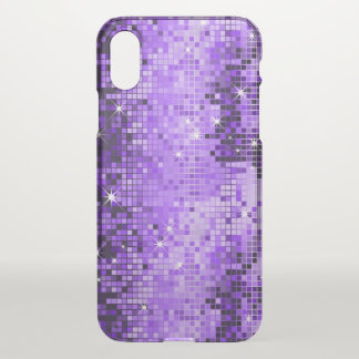 Purple Geometric Disco Glitter iPhone X Case
