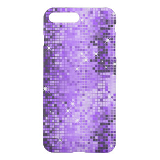 Purple Geometric Faux Disco Glitter iPhone 8 Plus/7 Plus Case