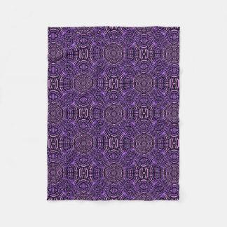Purple Geometric Fleece Blanket