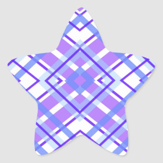 Purple Geometric Kaleidoscope pattern Star Sticker