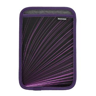 Purple Geometric Lines On Black, iPad Mini Sleeve