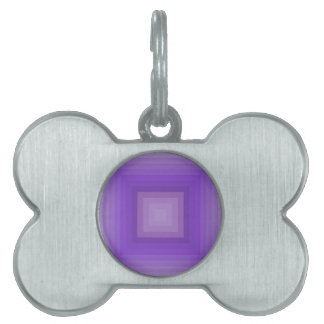 Purple geometrical pattern pet tag
