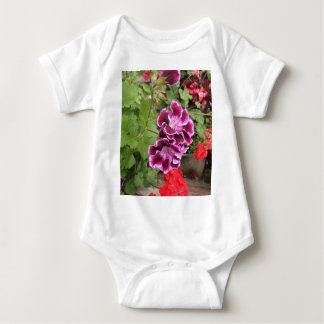 Purple Geraniums Baby Bodysuit