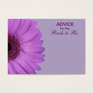 Purple Gerber Daisy Advice for the Bride