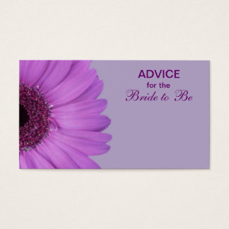 Purple Gerber Daisy Advice for the Bride