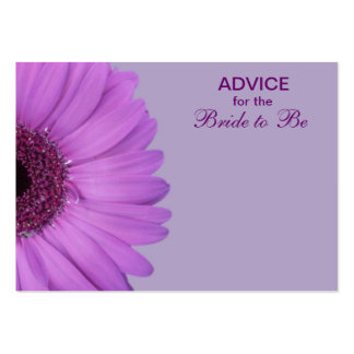 Purple Gerber Daisy Advice for the Bride Pack Of Chubby Business Cards