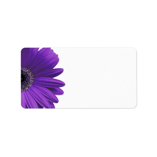 Purple Gerbera Daisy Blank Wedding Address Labels