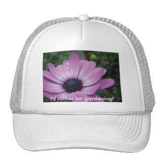 Purple Gerbera Daisy Flower Waterdrops Hat