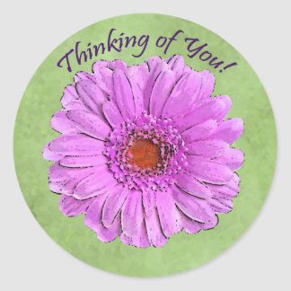 Purple Gerbera Thinking of You sticker