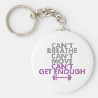 "Purple ""Get Enough"" Basic Round Button Key Ring"