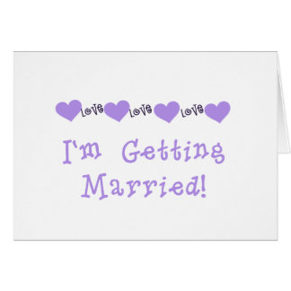 Purple Getting Married Tshirts and Gifts Greeting Card