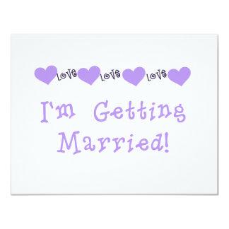 Purple Getting Married Tshirts and Gifts Custom Invitation