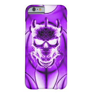 Purple Ghost Skull Barely There iPhone 6 Case