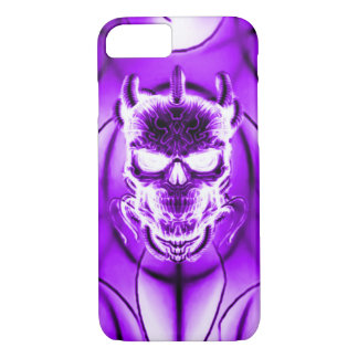 Purple Ghost Skull iPhone 7 Case