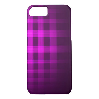 Purple Ghost Tartan Pattern iPhone 7 Case