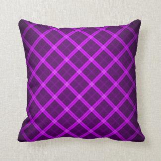 Purple Ghost Tartan Pattern Plush Throw Pillow