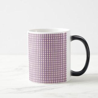 Purple Gingham Country Lavender Preppy Plaid Magic Mug
