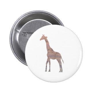 Purple Giraffe 6 Cm Round Badge