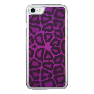 Purple Giraffe Animal Print Carved iPhone 7 Case