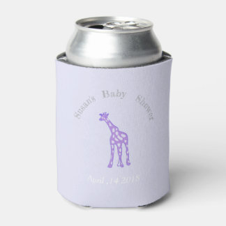 purple giraffe  - baby shower no2 can cooler