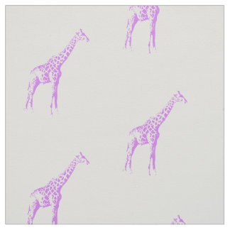Purple Giraffe Fabric