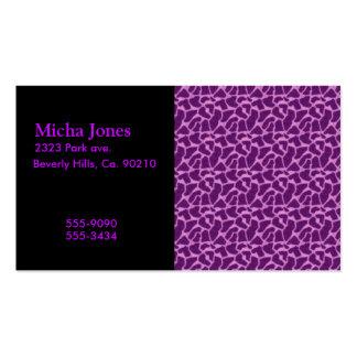 Purple Giraffe Fur Pattern Double-Sided Standard Business Cards (Pack Of 100)