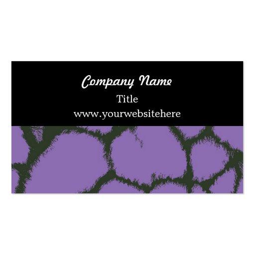 Purple Giraffe Fur Pattern Business Card