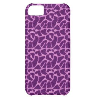 Purple Giraffe Fur Pattern iPhone 5C Cover
