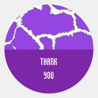 Purple Giraffe Fur Pattern Stickers